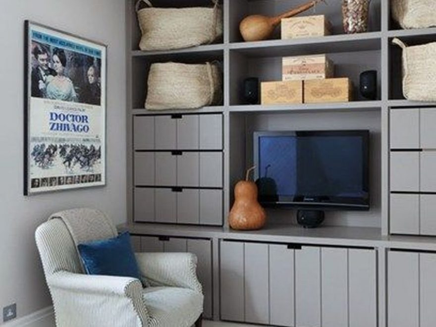 Gorgeous Cabinet Design Ideas For Small Living Room25