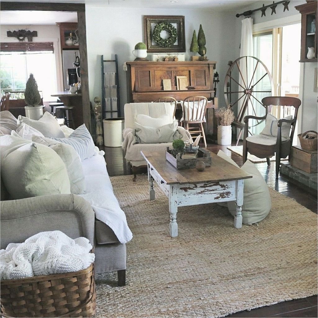 Gorgeous Country Farmhouse Decor Ideas For Living Room47